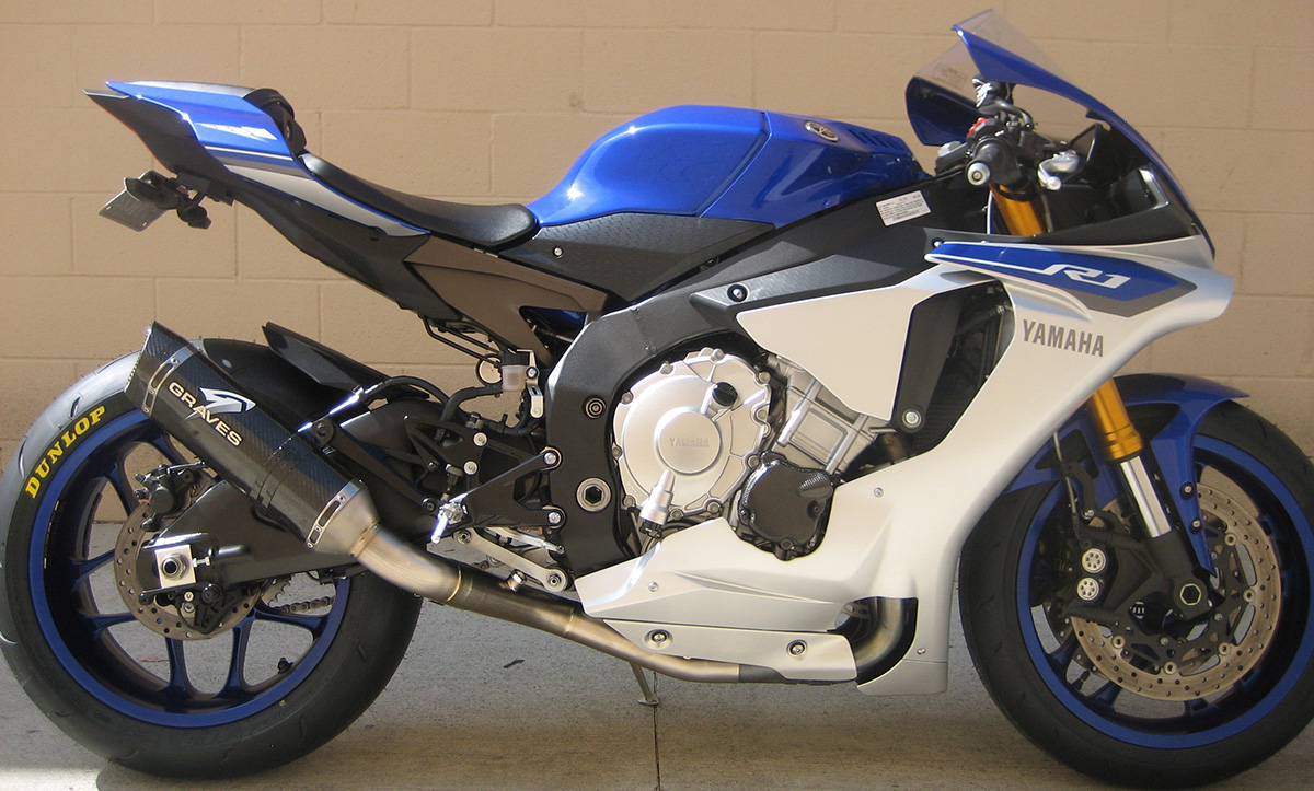 Graves Motorsports 2015 Yamaha R1 Cat Eliminator Exhaust System
