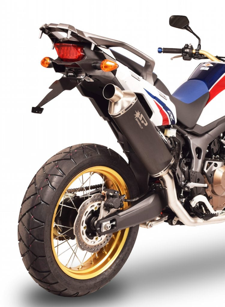 spark exhaust crf 1000l africa twin 2016 slip on dakar carbon homol gho1701com veloxracing. Black Bedroom Furniture Sets. Home Design Ideas