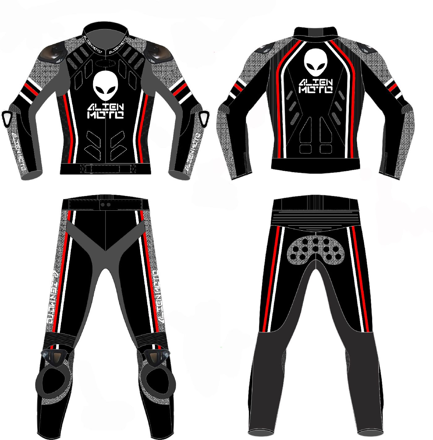 AlienMoto AlienSkin A51 RR Evolution Protection suit