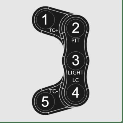 Yamaha R6 '17 Flash Tune ECU LHS 5 Button Race Handlebar Switch Assembly, Plug and Play