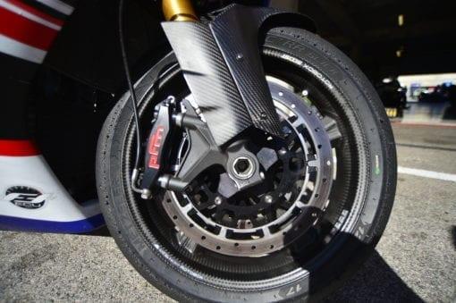 PFM Brakes on Bienvenu Motorsports bikeq