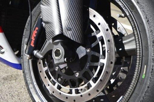 PFM Brakes on Bienvenu Motorsports bike