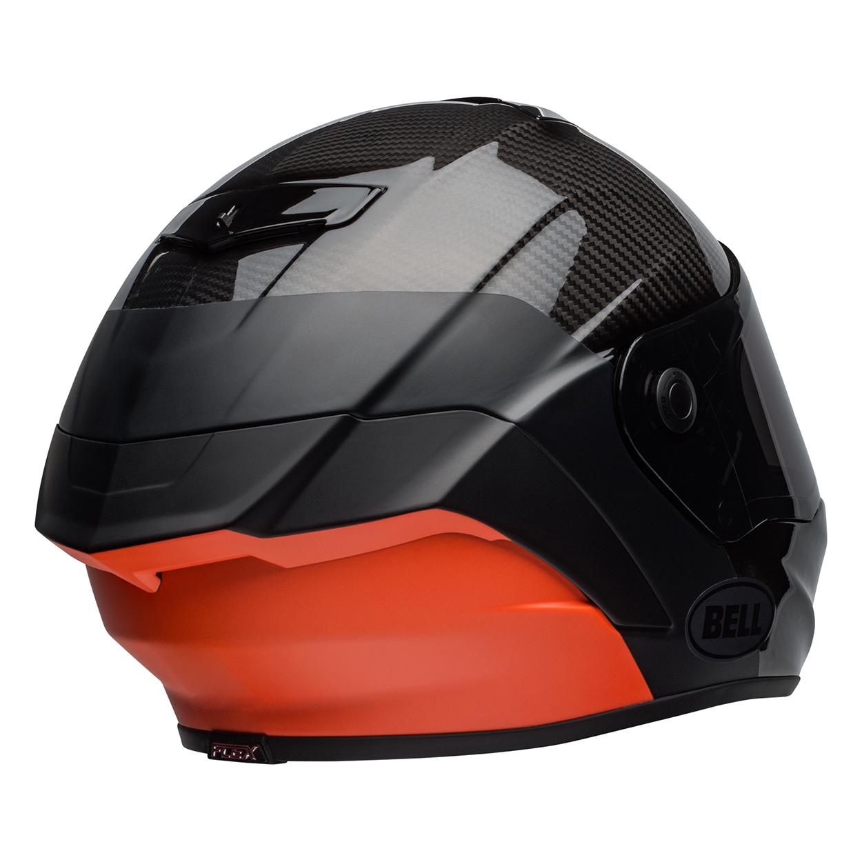 cb3b4d54 Bell Street 2019 Race Star Adult Helmet (Lux Black/Orange ...